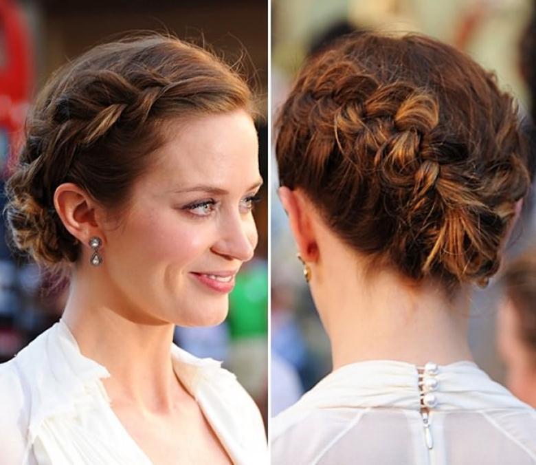 Плетенные прически для коротких волос