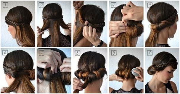 Греческая прическа на короткие волосы своими руками с повязкой 21