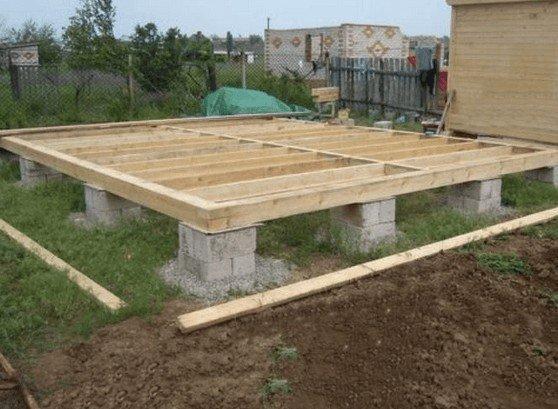 Садовый домик без фундамента своими руками 7