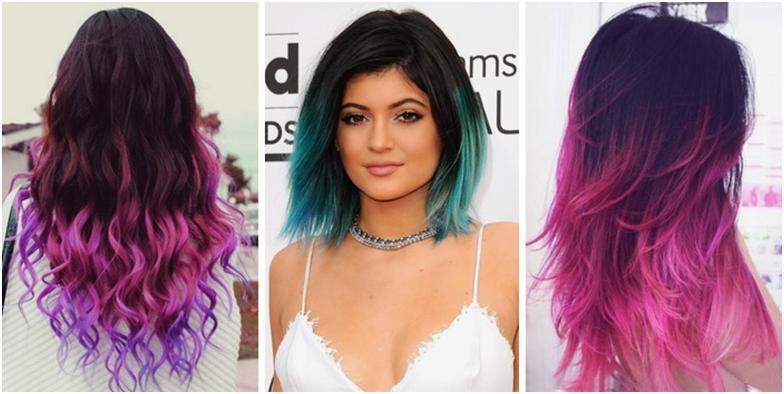 Как сделать темные волосы цветными