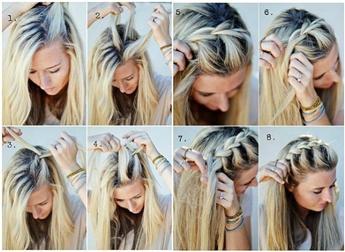 Косички в домашних условиях своими руками на средние волосы фото