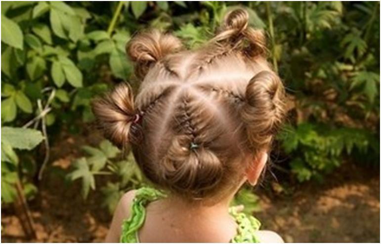 Детские прическа на короткие волосы