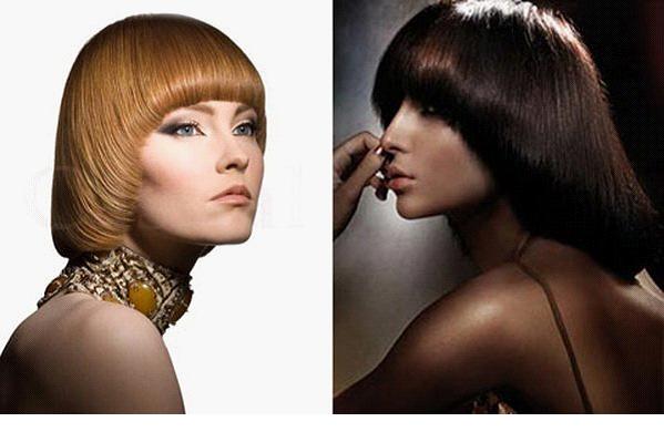 Прическа паж на средние волосы