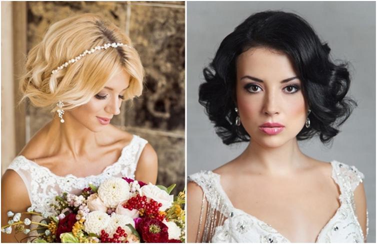 Прически на свадьбу на короткие волосы для гостей на