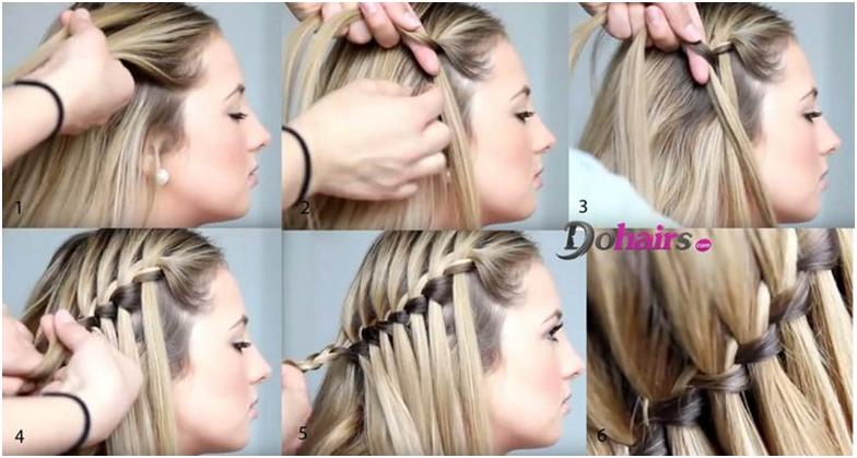 Как сделать косу на короткие волосы на себе 458