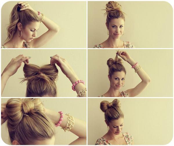 Как сделать себе бантик для волос 156
