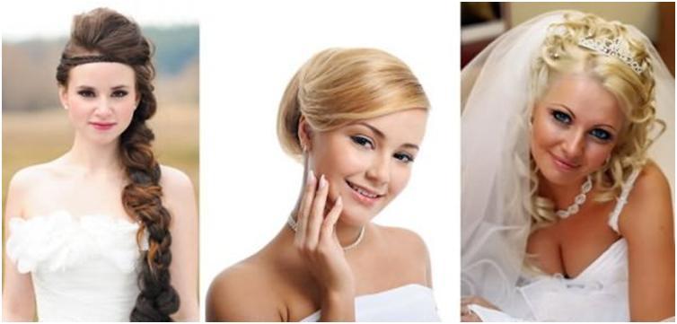 Свадебные причёски для круглого лица на длинные волосы