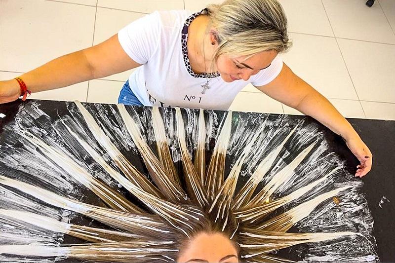 Как себе в домашних условиях сделать балаяж волос 118