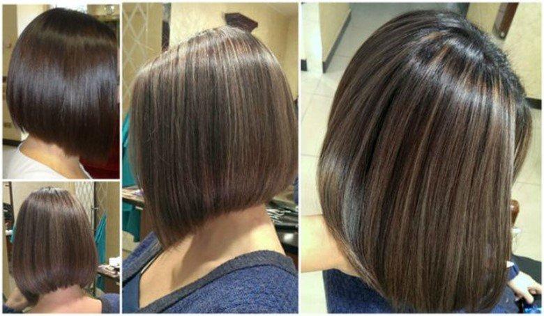 Прикорневое мелирование на темные волосы