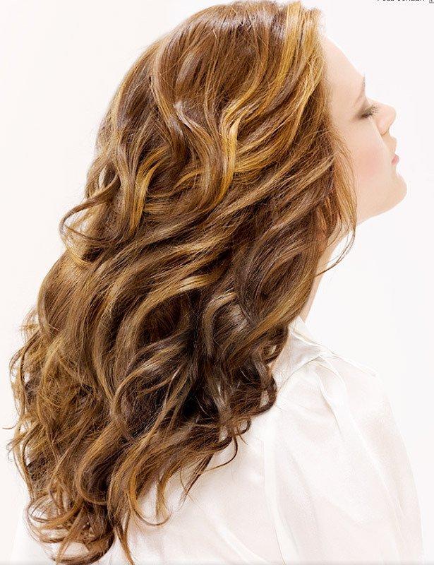 Волны на длинных волосах как сделать фото