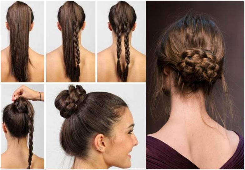 Прическа длинные волосы на работу фото