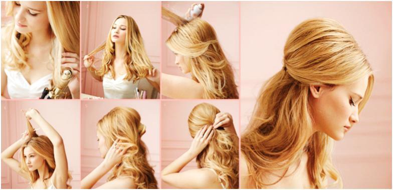 Прически своими руками на средние волосы начес