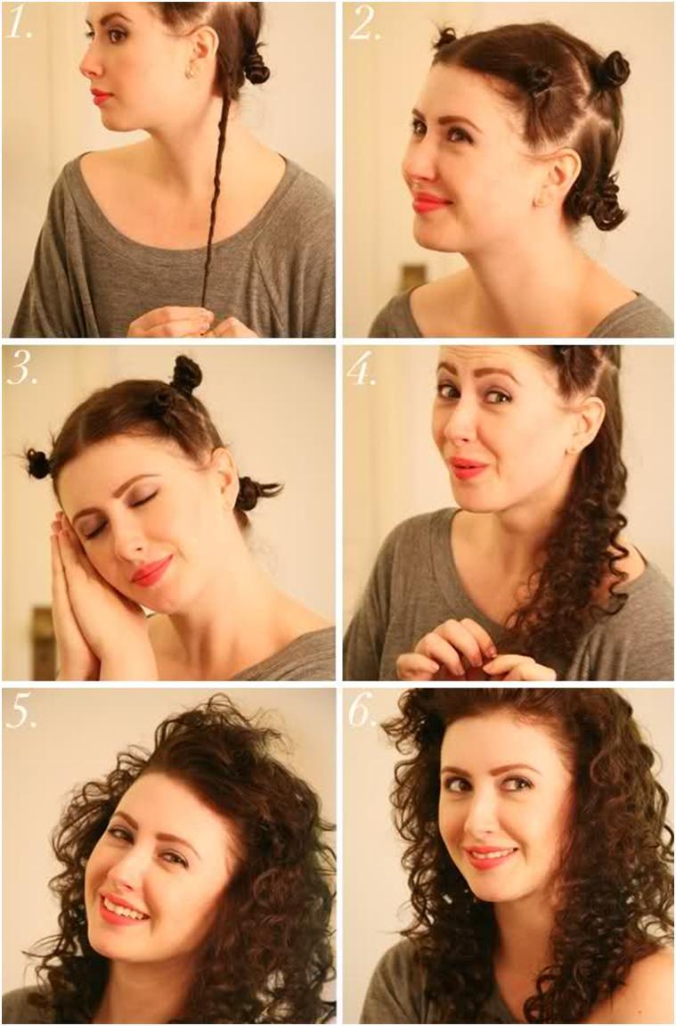 Как сделать локоны на длинные волосы без плойки