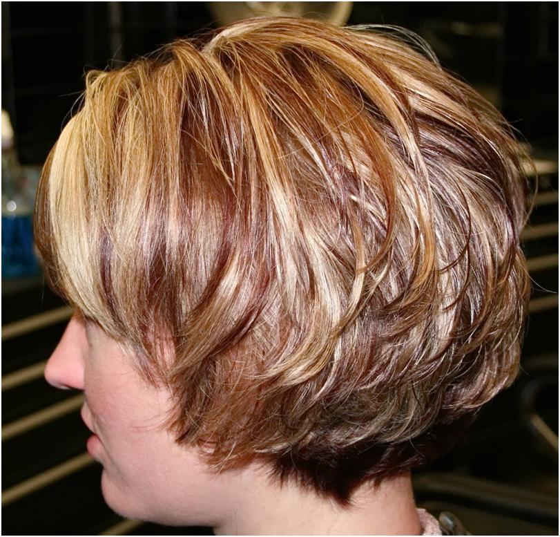 Каскадная стрижка коротких волосах