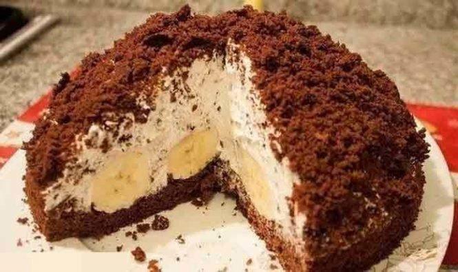 Банановый торт рецепт с фото пошагово в домашних условиях