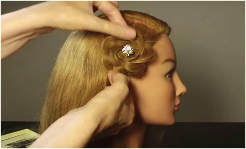 Прическа роза из волос инструкция