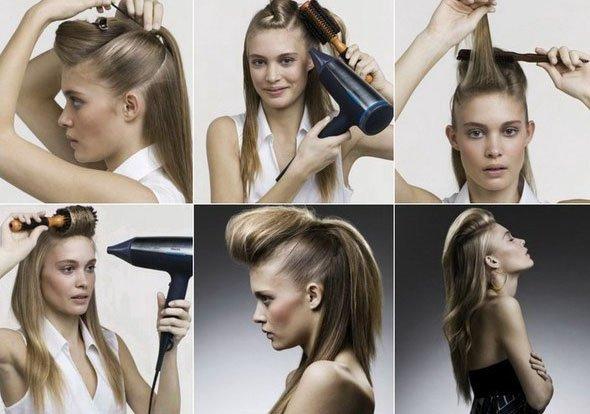 Как сделать начёс волос дома