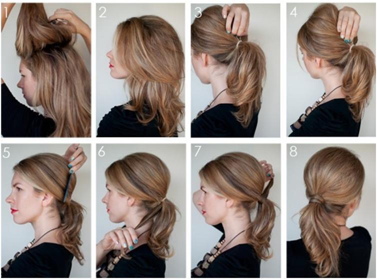 Простые прически для средних волос на каждый день своими руками