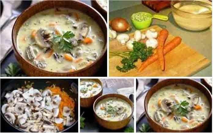 Рисовый суп с грибами рецепт с фото