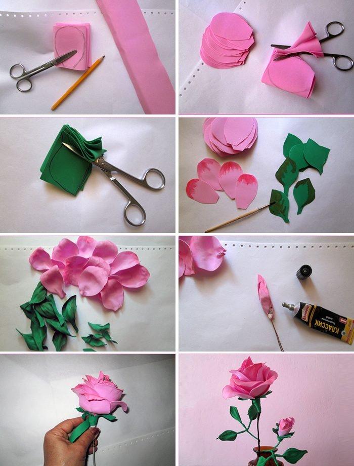 Цветы из гофрированной бумаги своими руками для конфет