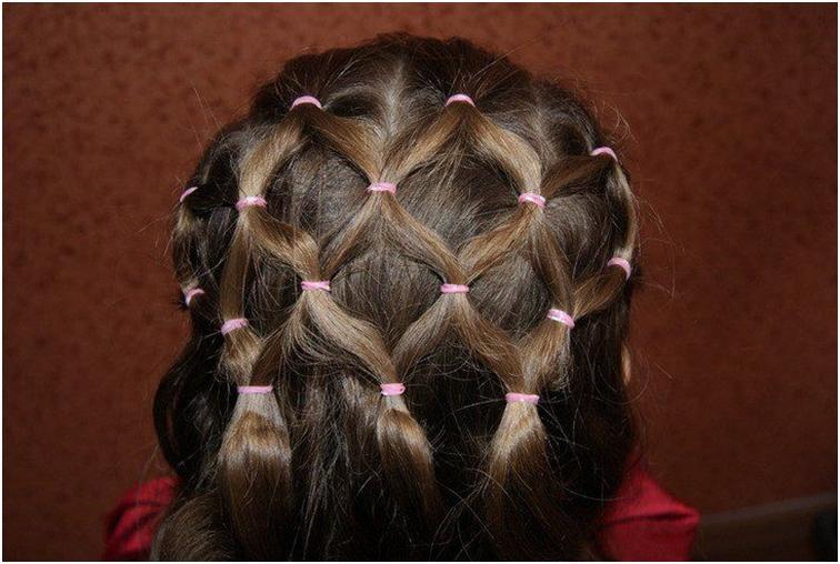 Как из волос сделать сеточку 38