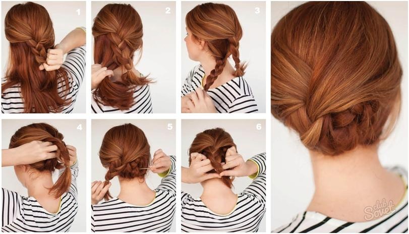 Как красиво собрать длинные волосы - собираем волосы