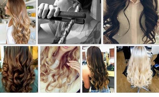 Как сделать большие локоны из волос 116
