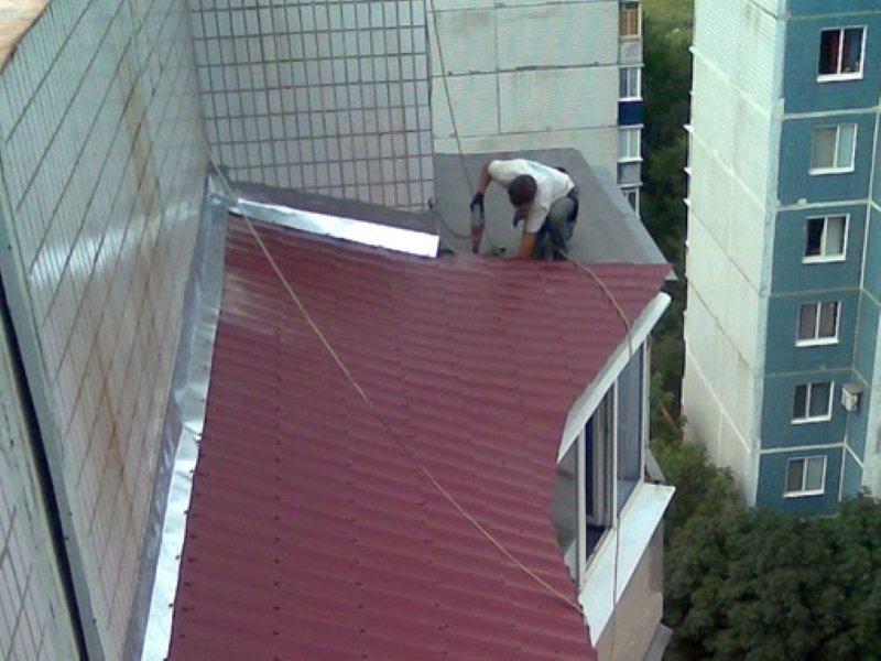 Крыши для балконов материалы.