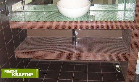Полка для раковины в ванной своими руками