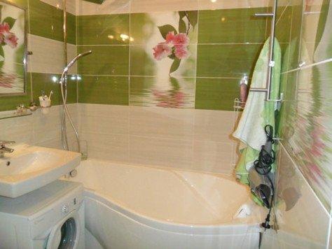 Дизайны ванн в хрущевках угловые