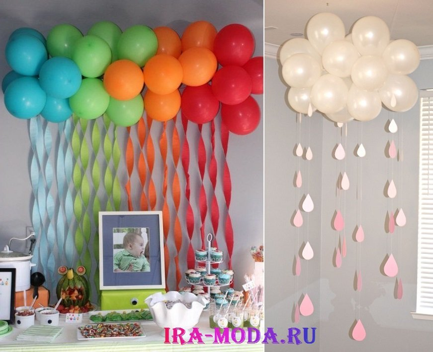 Фото как украсить комнату на день рождения ребенка 2 года своими руками фото 77