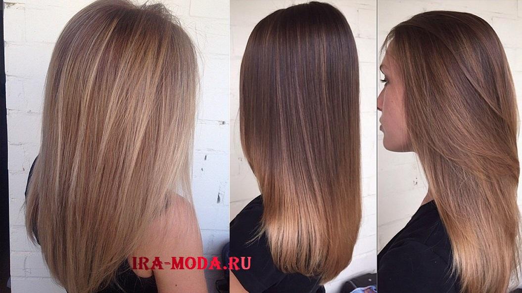 модные окрашивание на длинные волосы фото