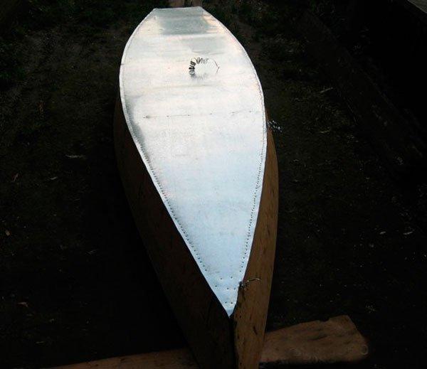Моторная лодка своими руками из оцинковки 70