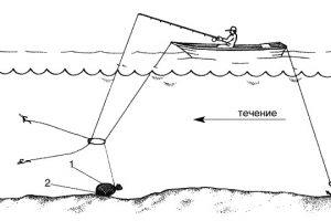 удочка для ловли леща на кольцо с лодки