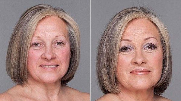 Макияж глаз для женщин старше 50
