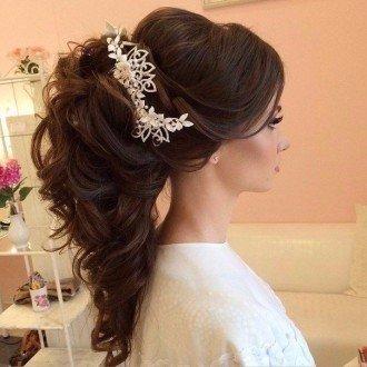 Фото самых красивых свадебных причесок длинных волос