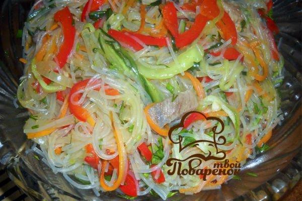 Фунчоза с мясом и овощамиы с фото
