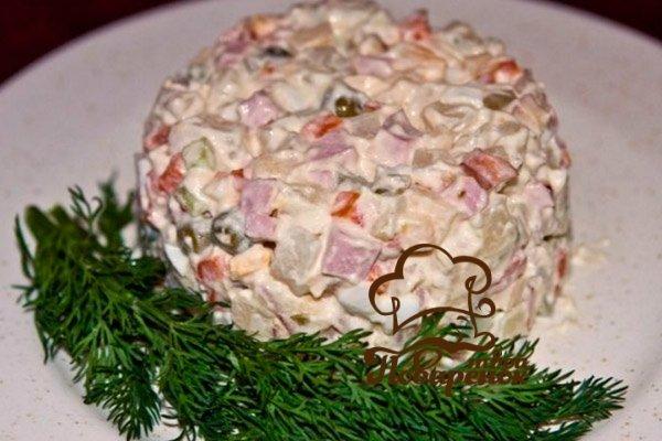 Оливье рецепт классический с мясом с фото