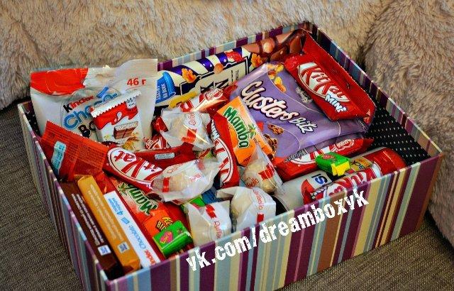 Подарок на день рождения коробка со сладостями 756