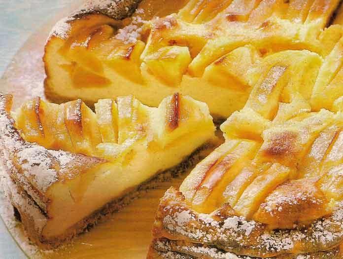 Пирог с яблоками самый простой рецепт на молоке