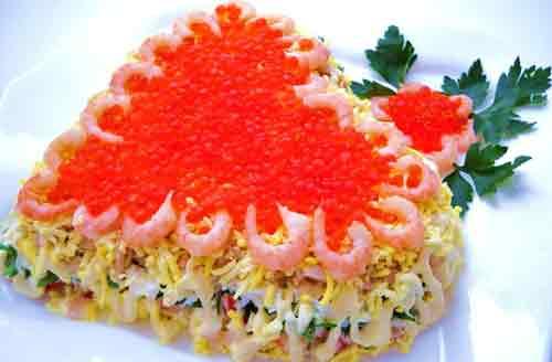 Вкусные салаты с и рецептами на праздничный стол