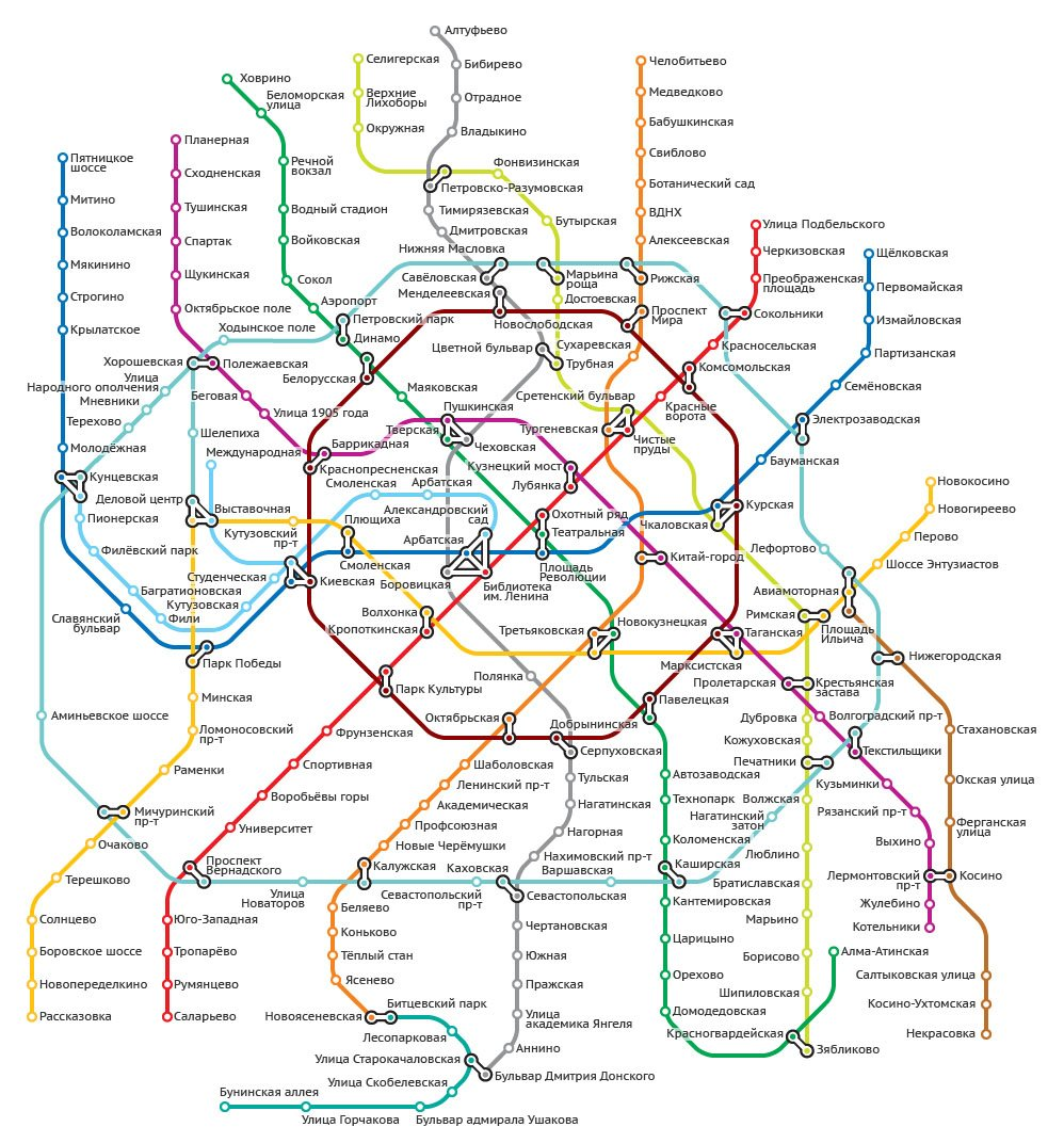 Схема метро строящееся до 2020 года