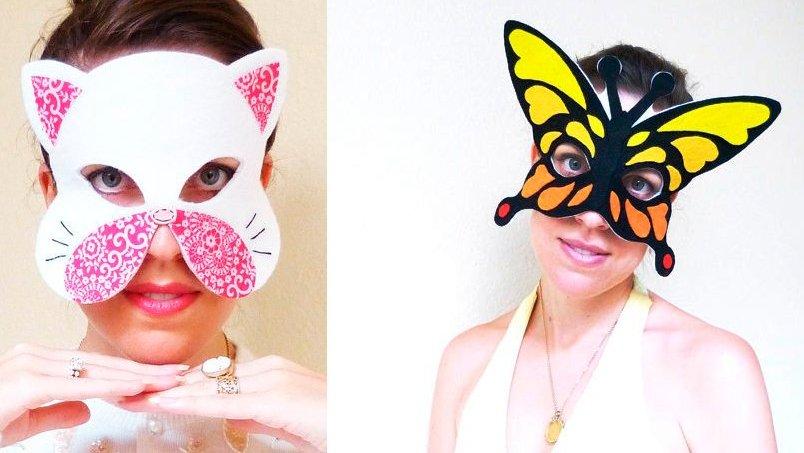 Как сделать смешную маску своими руками 14