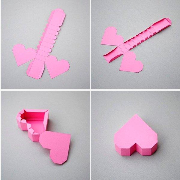 Как сделать красивую поделку из бумаги сердечко 85