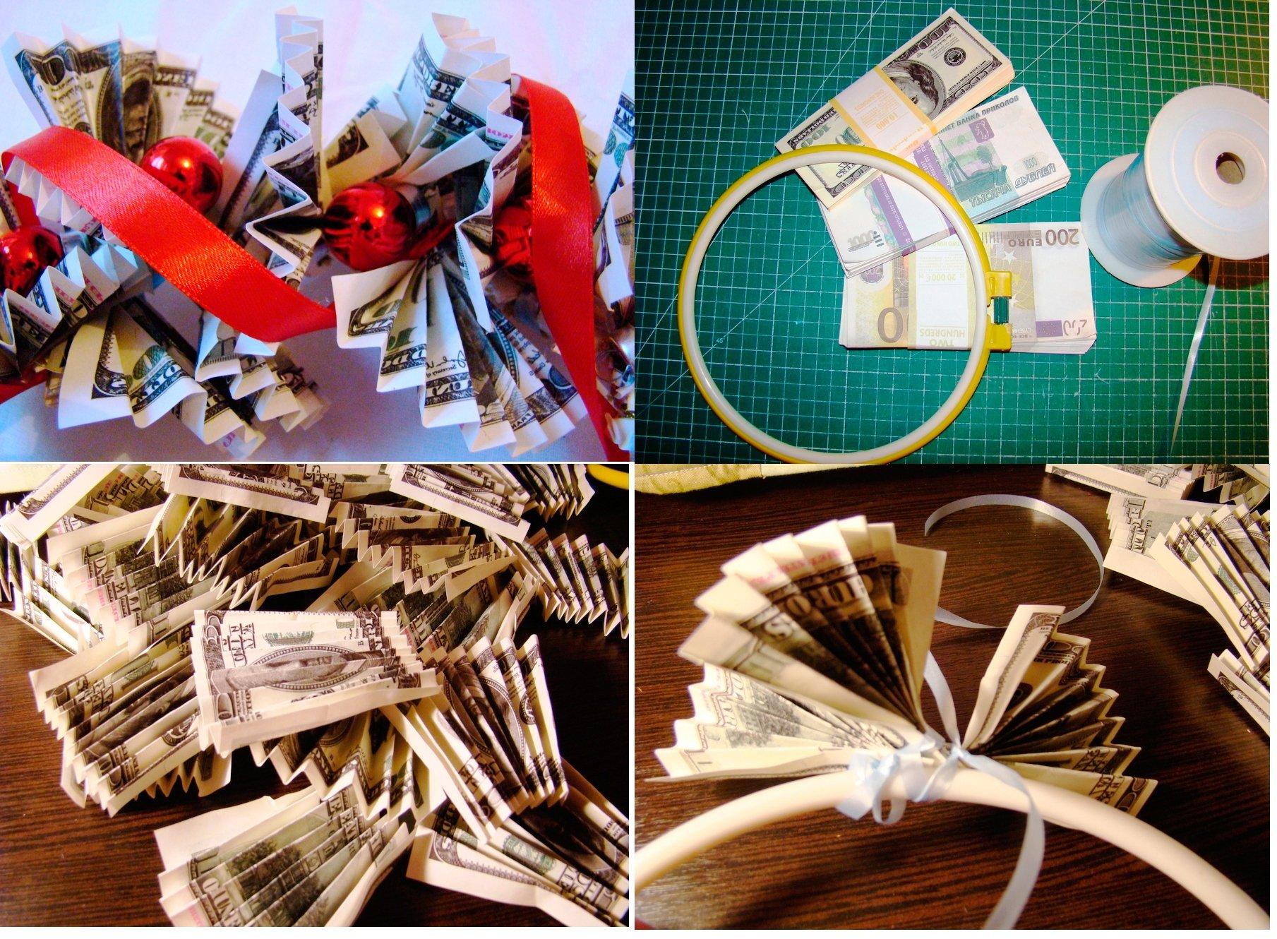 Оригинальные идеи подарков из денег 90