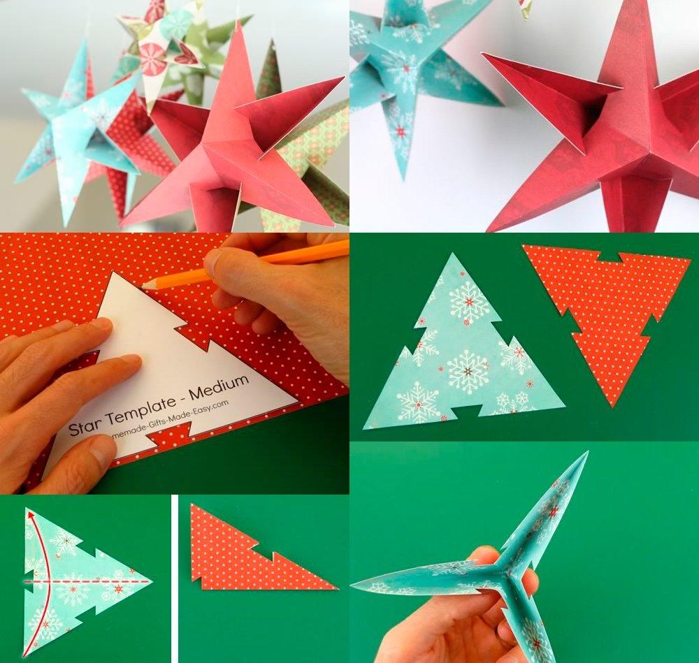 Как сделать объемную звездочку своими руками из бумаги 74
