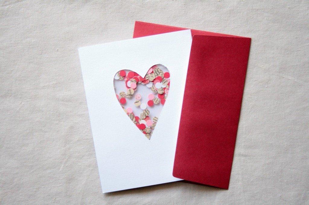 Как сделать открытку ко дню валентина своими руками 2