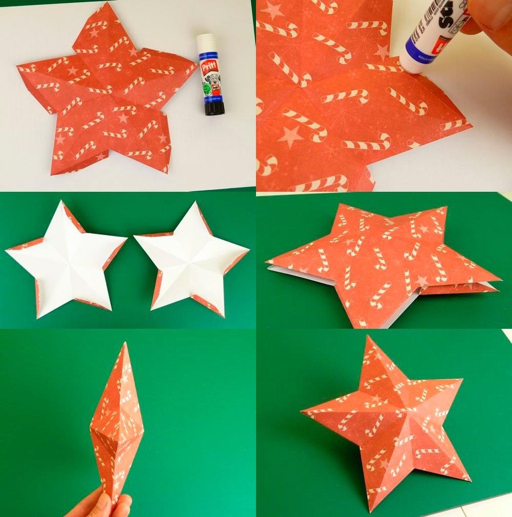 Делаем звёздочки из бумаги своими руками 457