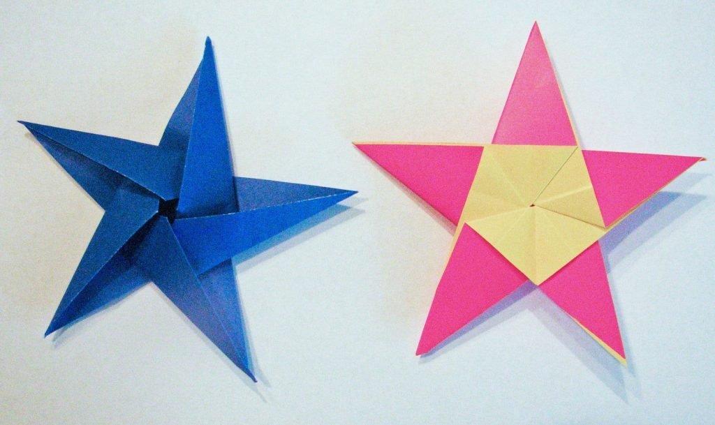 Объемная звезда из бумаги своими руками пошаговая инструкция