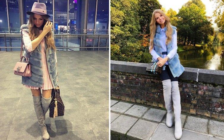 Модні ботфорти чоботи-панчохи осінь-зима 2017-2018 фото  3ed4da8809292
